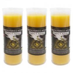 3 Velón esotérico - Amarillo