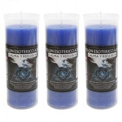 3 Velón esotérico - Azul
