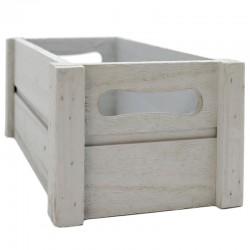 Caja madera gris 25x14x10.5cm