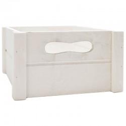 Caja madera blanca 20x20x10.5cm