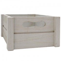 Caja madera gris 20x20x10.5cm
