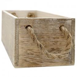 Caja madera envejecida cuerda 24x12x9cm