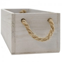 Caja madera gris cuerda 24x12x9cm