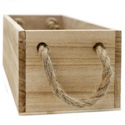 Caja madera natural cuerda 24x12x9cm