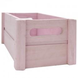 Caja madera rosa 24x14x10.5cm