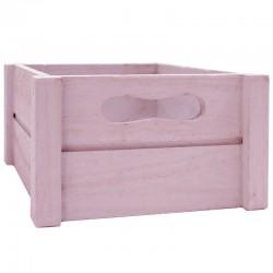 Caja madera rosa 20x20x10.5cm