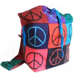 Bolso algodón parche honda paz
