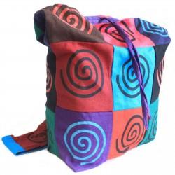 Bolso algodón parche honda espiral