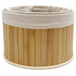 Set 2 cestas bambú natural 25x25x16cm