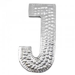 4 letras plateadas J