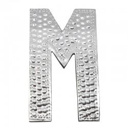 4 letras plateadas M