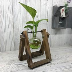 Decoración hogar - soporte madera 1 maceta