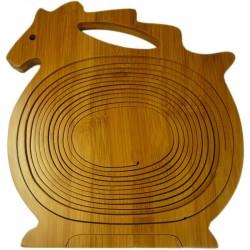Cesta bambú - caballo