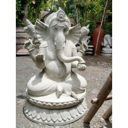 Estatua Ganesha Gampati blanco 100cm