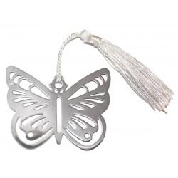 10 Marcapáginas Metálico Mariposa