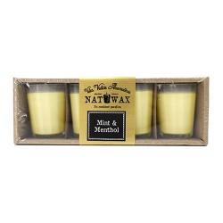 Pack 4 velas votive - plátano