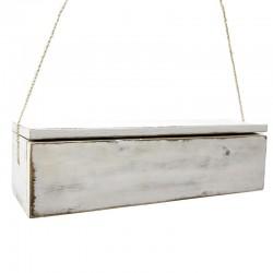 Estantería caja blanca 45x15x12cm