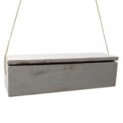 Estantería caja gris 45x15x12cm