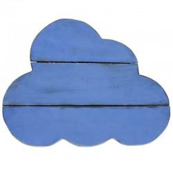 Nube madera decorativa azul