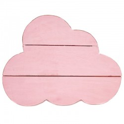 Nube madera decorativa rosa