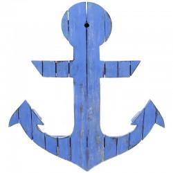 Ancla decorativa azul 45x38cm