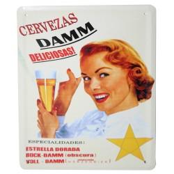 3 Placas vintage - Cervezas Damm 21x15.5cm