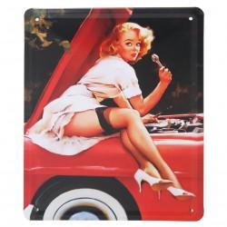 3 Placas vintage - Mecánica sexy 21x15.5cm