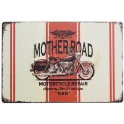 3 Placas vintage - Motorbike Route 66 30x20cm