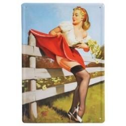 3 Placas vintage - Belleza y picardías 30x20cm