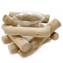 """Soporte de vela tealight madera 7x10cm """"África Ruge"""""""