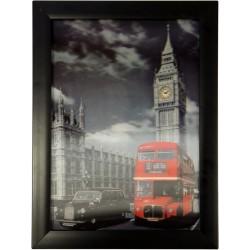 Cuadros HD 3D - Taxi y bus Londres
