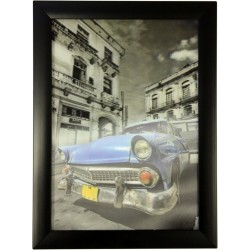 Cuadros HD 3D - Coche cubano azul