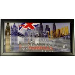 Cuadros HD 3D - Londres y bandera