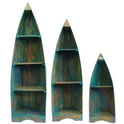 Set de 3 Estanterias Barco - Decapada