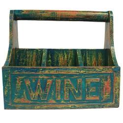 Caja decapada para vino 30x20x27 cm