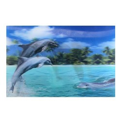 10 Láminas 3D delfines