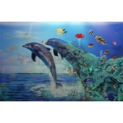 10 Láminas 3D delfines | peces