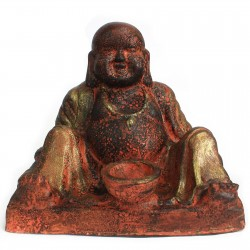 Buda terracota rústico - felicidad