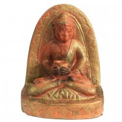 Buda terracota rústico - sentado