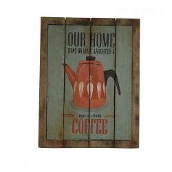2 Placas madera 45x35cm - our home