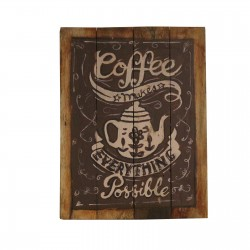 2 Placas madera 45x35cm - coffee make everything possible
