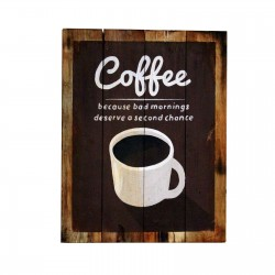 2 Placas madera 45x35cm - coffee
