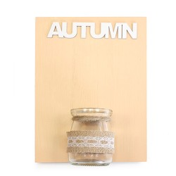 Placas madera jarrón - otoño