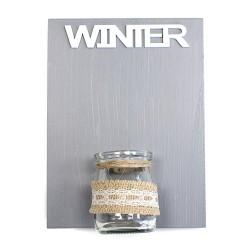 Placas madera jarrón - invierno