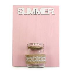 Placas madera jarrón - verano
