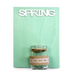 Placas madera jarrón - primavera