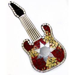 Guitarra mosaico - estrella ámbar 40x17.5cm