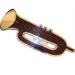 Trompeta mosaico bronce