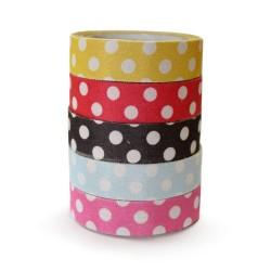 5 Fabric tape polka dot (5 pack de 10)