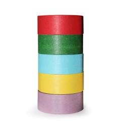 5 Washi tape colores básicos (pack de 10)